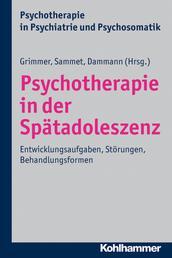 Psychotherapie in der Spätadoleszenz - Entwicklungsaufgaben, Störungen, Behandlungsformen