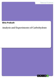 Analysis and Experiments of Carbohydrate