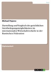 Darstellung und Vergleich der gerichtlichen Streitbeilegungsmöglichkeiten im internationalen Wirtschaftsverkehr in der Russischen Föderation