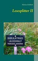 Markus Schöberl: Lesesplitter II