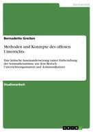 Bernadette Greiten: Methoden und Konzepte des offenen Unterrichts