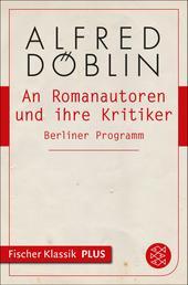 An Romanautoren und ihre Kritiker - Berliner Programm