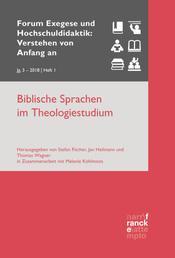 Biblische Sprachen im Theologiestudium - VvAa Heft 1 / 3, Jahrgang 2018