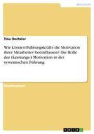 Tina Oechsler: Wie können Führungskräfte die Motivation ihrer Mitarbeiter beeinflussen? Die Rolle der (Leistungs-) Motivation in der systemischen Führung