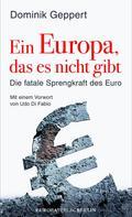 Dominik Geppert: Ein Europa, das es nicht gibt