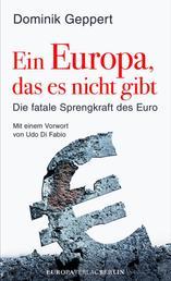 Ein Europa, das es nicht gibt - Die fatale Sprengkraft des Euro Mit einem Vorwort von Udo DiFabio