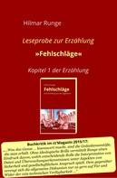 Hilmar Runge: Fehlschläge (Leseprobe)