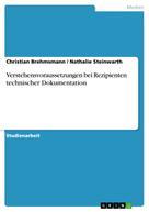 Christian Brehmsmann: Verstehensvoraussetzungen bei Rezipienten technischer Dokumentation