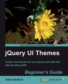 Adam Boduch: jQuery UI Themes Beginner's Guide