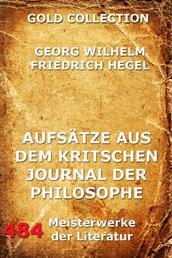 Aufsätze aus dem kritischen Journal der Philosophie