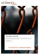 Roman Jowanowitsch: Radioaktivität