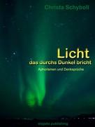 Christa Schyboll: Licht das durchs Dunkel bricht
