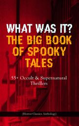 WHAT WAS IT? THE BIG BOOK OF SPOOKY TALES – 55+ Occult & Supernatural Thrillers (Horror Classics Anthology) - Number 13, The Deserted House, The Man with the Pale Eyes, The Oblong Box, The Birth-Mark, A Terribly Strange Bed, The Torture by Hope, The Mysterious Card and many more