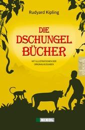 Die Dschungelbücher (Das Dschungelbuch + Das neue Dschungelbuch) - mit Illustrationen der Originalausgaben