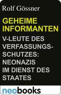 Rolf Gössner: Geheime Informanten ★★★★★