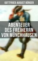 Gottfried August Bürger: Abenteuer des Freiherrn von Münchhausen