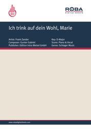 Ich trink auf dein Wohl, Marie - as performed by Frank Zander, Single Songbook