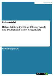 Hitlers Aufstieg. Wie Hitler Diktator wurde und Deutschland in den Krieg stürzte
