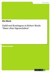 """Zufall und Kontingenz in Robert Musils """"Mann ohne Eigenschaften"""""""