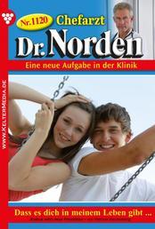 Chefarzt Dr. Norden 1120 – Arztroman - Dass es dich in meinem Leben gibt …