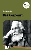 Paul Ernst: Das Gespenst - Literatur-Quickie