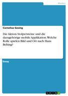 Cornelius Gesing: Die Aktion Stolpersteine und die dazugehörige mobile Applikation. Welche Rolle spielen Bild und Ort nach Hans Belting?