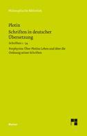 Plotin: Schriften in deutscher Übersetzung