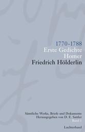 Sämtliche Werke, Briefe und Dokumente. Band 1 - 1770-1788 - Erste Gedichte; Homer