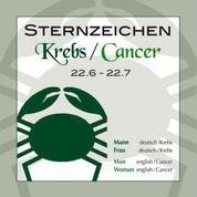 Sternzeichen Krebs 22.6.-22.7.