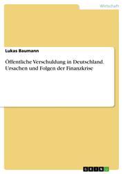 Öffentliche Verschuldung in Deutschland. Ursachen und Folgen der Finanzkrise