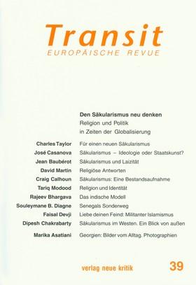 Transit 39. Europäische Revue