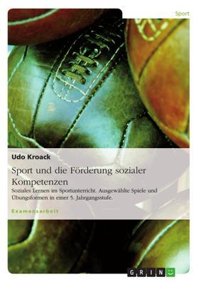 Sport und die Förderung sozialer Kompetenzen