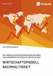 Wirtschaftsmodell Nachhaltigkeit. Wie können Nichtregierungsorganisationen sozialökonomische Prozesse beeinflussen?