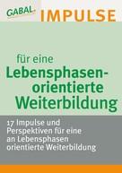Hanspeter Reiter: Lebensphasenorientierte Weiterbildung