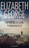 Elizabeth George: Wer Strafe verdient ★★★★