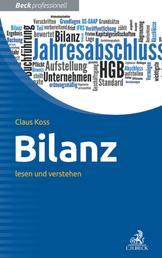 Bilanz - lesen und verstehen