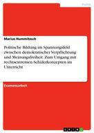 Marius Hummitzsch: Politische Bildung im Spannungsfeld zwischen demokratischer Verpflichtung und Meinungsfreiheit. Zum Umgang mit rechtsextremen Schülerkonzepten im Unterricht
