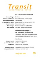 Cornelia Klinger: Transit 33. Europäische Revue
