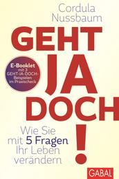Praxis-Check Geht ja doch! - E-Booklet mit 3 Geht-ja-doch-Beispielen