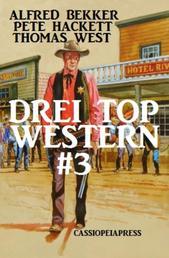 Drei Top Western #3 - Nugget Jäger/ Warrington - ein Mann aus Granit/ Marshal Logan und der gefährliche Auftrag: Cassiopeiapress