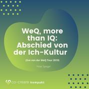 WeQ, More Than IQ - Abschied von der Ich-Kultur (live von der WeQ Tour 2019)
