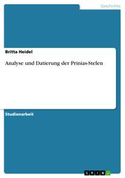 Analyse und Datierung der Prinias-Stelen