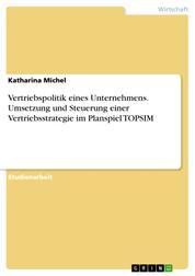 Vertriebspolitik eines Unternehmens. Umsetzung und Steuerung einer Vertriebsstrategie im Planspiel TOPSIM