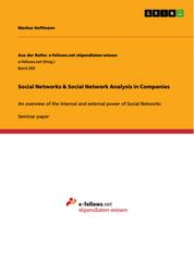 Social Networks & Social Network Analysis in Companies - An overview of the internal and external power of Social Networks