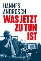 Hannes Androsch: Was jetzt zu tun ist