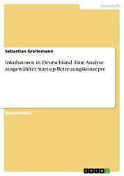 Inkubatoren in Deutschland. Eine Analyse ausgewählter Start-up Betreuungskonzepte