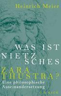 Heinrich Meier: Was ist Nietzsches Zarathustra? ★