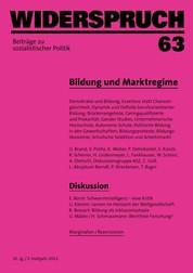 Widerspruch 63 - Bildung und Marktregime