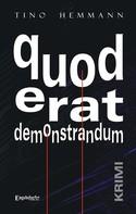 Tino Hemmann: quod erat demonstrandum. Krimi ★★★