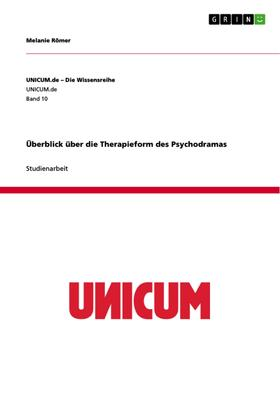 Überblick über die Therapieform des Psychodramas